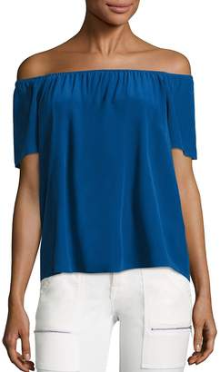 Joie Women's Amesti B Silk Off-The-Shoulder Blouse