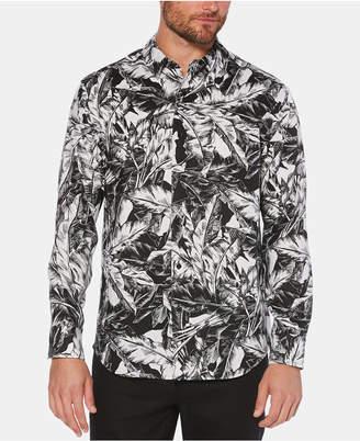 Cubavera Men Tropical-Print Linen Shirt