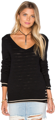 Michael Stars Reversible Double Layer V Neck Sweater $148 thestylecure.com
