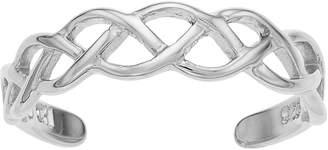 Sterling Summer Open Weave Toe Ring