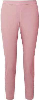Theory Thaniel Cropped Stretch Cotton-blend Twill Slim-leg Pants - Baby pink