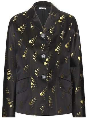 Miu Miu Embroidered silk jacket
