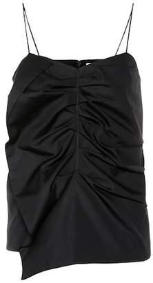 Victoria Beckham Victoria Ruched cotton tank top