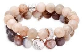 Boheme White Topaz, Moonstone & Sterling Silver Beaded Bracelet