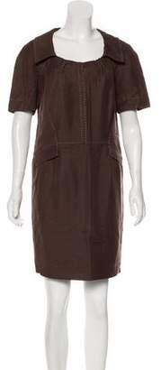 Alberta Ferretti Pleated Mini Dress