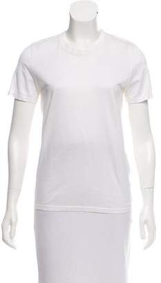Reed Krakoff Casual Leather-Trimmed T-Shirt