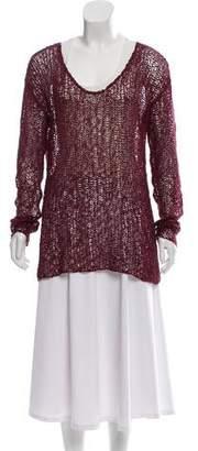 Helmut Lang Sheer Scoop Neck Sweater