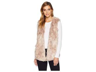 True Grit Dylan by Melange Long Fur Vest with Heather Knit Lining