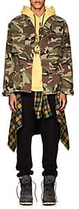 Adaptation Men's Embroidered Camouflage Stretch-Cotton Jacket-Dk. Green Size S