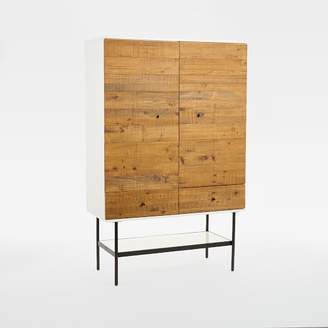 "west elm Reclaimed Wood + Lacquer Tall Media Cabinet (42"")"