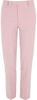 River Island Mens Pink skinny fit suit trousers