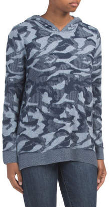 Camouflage Hooded Top