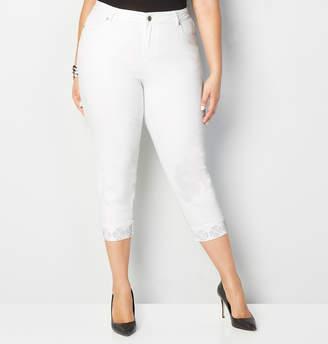 Avenue Stud Cuff Crop Jean