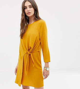Asos Tall DESIGN Tall knot front mini shift dress