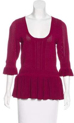 Torn By Ronny Kobo Knit Peplum Top w/ Tags