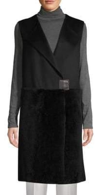Lafayette 148 New York Tai Wool, Cashmere & Shearling Vest