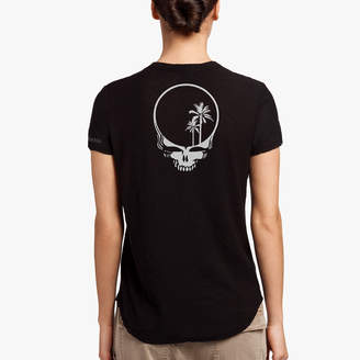 James Perse GRATEFUL DEAD SKULL-PALM PRINT CALIFORNIA TEE