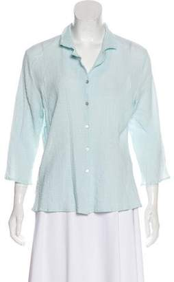 Eileen Fisher Jacquard Button-Up