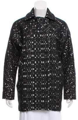 Zero Maria Cornejo Virgin Wool-Accented Bicolor Coat