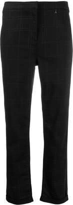 Patrizia Pepe slim checked trousers