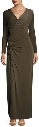 Vera Wang Women's Taupe Ruched Dress