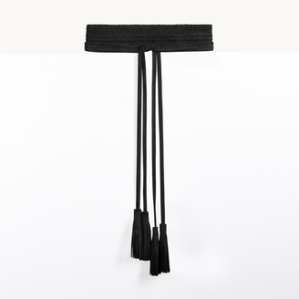 Wide suede leather belt $135 thestylecure.com