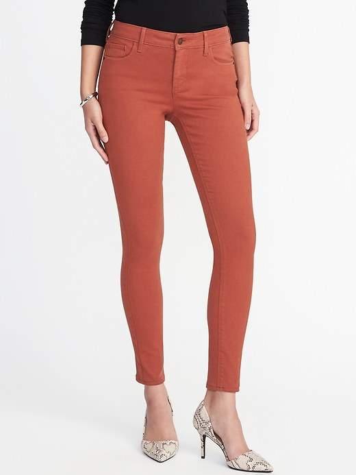 Mid-Rise Pop-Color Rockstar Super Skinny Jeans for Women