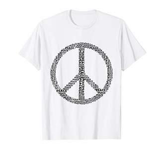 Peace Sign Word Art t-shirt