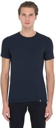 Drumohr Cotton Crepe T-Shirt With Jersey Pocket