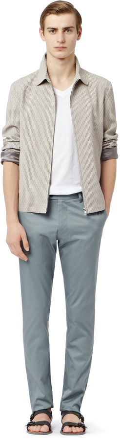 Reiss Annely JACQUARD ZIP THROUGH BOMBER JACKET