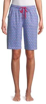 Karen Neuburger Geometric Printed Bermuda Shorts