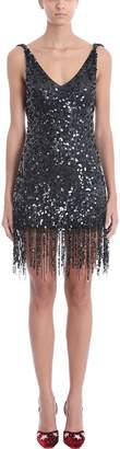 ATTICO Sleeveless Black Tulle Short Dress