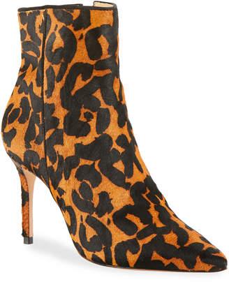 Schutz Miryan Leopard-Printed Fur Booties