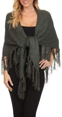 Bienbien Dark-Sage Green-Knit Shawl