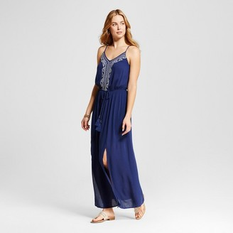Knox Rose Women's Braided Tie Waist Woven Maxi with Embroidery $29.99 thestylecure.com