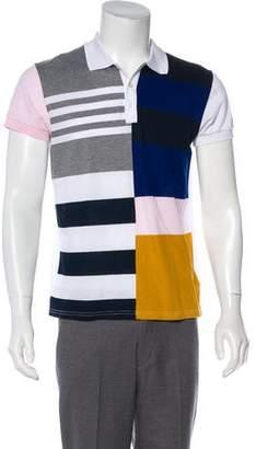 Christian Dior 2016 Abstract Geometric Print Polo Shirt