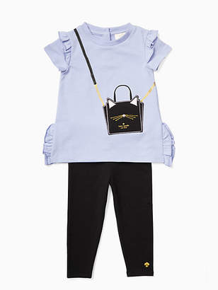 Kate Spade Infant cat handbag legging set