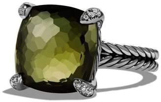 David Yurman 'Chatelaine' Ring with Semiprecious Stone and Diamonds
