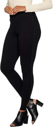 Lisa Rinna CollectionPull On Satin Piping Tuxedo Stripe Leggings