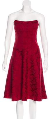 Nicole Miller Brocade Evening Dress