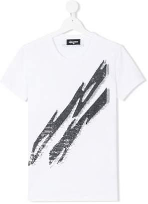 DSQUARED2 lightning bolt embellished T-shirt