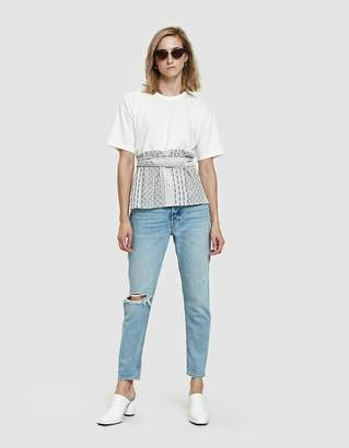 Farrow Goyave Mixed-Material Tee