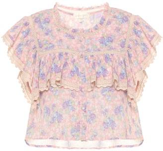 LoveShackFancy Laurel floral cotton top