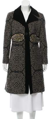 Etro Embroidered Knee-Length Coat