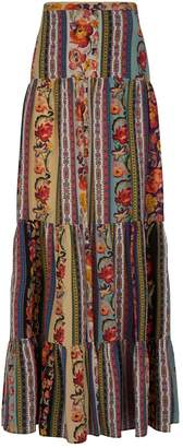 Etro Tiered Floral Maxi Skirt