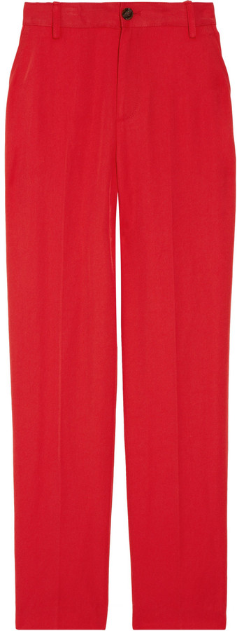 Marc by Marc Jacobs Clark cropped twill tapered pants
