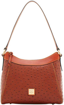 Dooney & Bourke Ostrich Large Raina Hobo