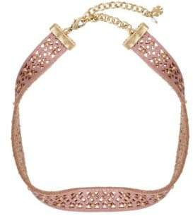 Lucky Brand Culture Club Leather Choker Necklace