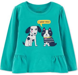 Carter's Baby Girls Dog-Print Cotton T-Shirt