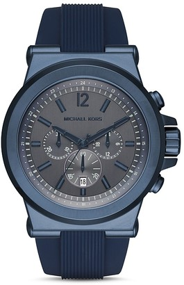 Michael Kors Dylan Silicone Watch, 48mm $250 thestylecure.com